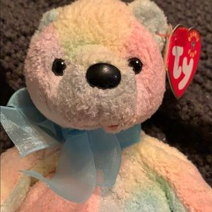 """Ty Beanie Baby -  """"Mellow"""" the Ty-Dyed Bear 2000"""